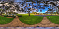 An HDR interactive panoramic image of Bay Pines, Pinellas County. The photographic images were shot with a Canon 60D.