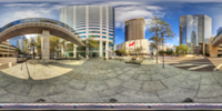 An HDR interactive panoramic image of Bank of America Plaza, Tampa. The photographic images were shot with a Canon 60D.