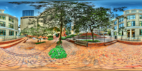 An HDR interactive panoramic image of City Hall, Tampa. The photographic images were shot with a Canon 60D.