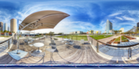 An HDR interactive panoramic image of Curtis Hixon Park, Tampa. The photographic images were shot with a Canon 60D.
