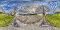 An HDR interactive panoramic image of Tampa Museum of Art, Tampa. The photographic images were shot with a Canon 60D.