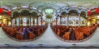 An HDR interactive panoramic image of sacred heart catholic church, Tampa. The photographic images were shot with a Canon 60D.