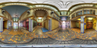 An HDR interactive panoramic image of snell arcade, Tampa. The photographic images were shot with a Canon 60D.