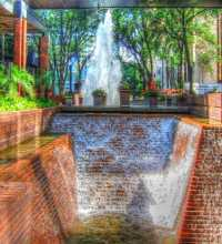 This link leads to a panoramic image of Poe Plaza. The photographic images were shot with a Canon S95. Poe Plaza sits between Tampa City Center buildings one and two.